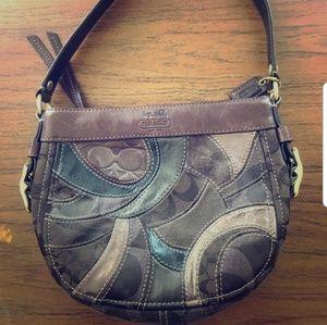 Authentic Vintage Coach-Brown Patchwork Purse Bag